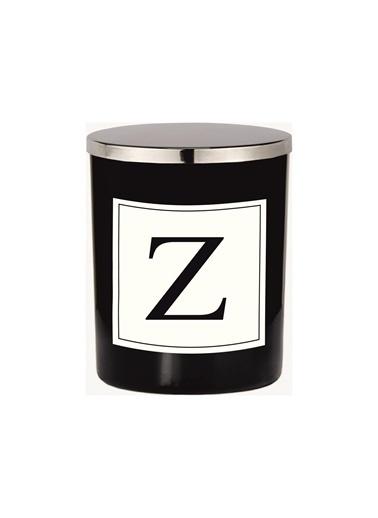 Lyn Home & Decor Z Harfli Siyah Bardak Mum Siyah